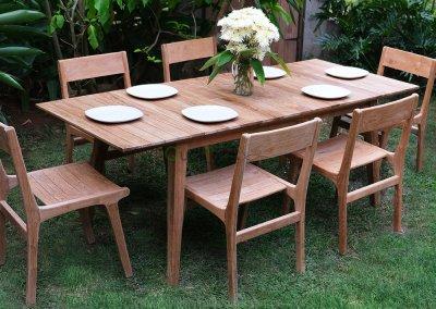 Teak Outdoor Dining Set – Tempur