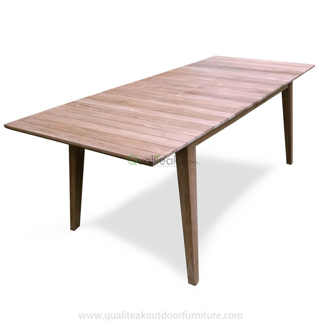 tempur teak garden extension dining table